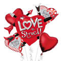 Foil Love Struck Valentines Day Balloon Bouquet 5pc