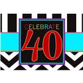 Celebrate 40th Birthday Invitations 8ct