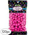 Bright Pink Peanut Chocolate Drops 120pc