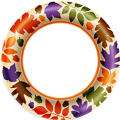Autumn Warmth Dinner Plates 40ct