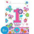 Sweet Girl 1st Birthday Favor Bags 8ct