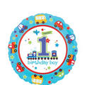 1st Birthday Balloon - All Aboard