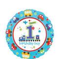 1st Birthday Balloon - All Aboard