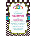 Custom Bright Congrats Grad Invitations