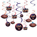 Super Bowl Swirl Decorations 12ct