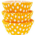 Sunshine Yellow Polka Dot Baking Cups 75ct