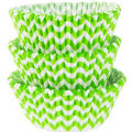 Kiwi Green Chevron Baking Cups 75ct