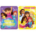 Dora and Friends Invitations & Thank You Notes for 8