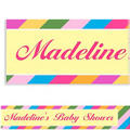 Custom Diagonal Stripe Warm Banner 6ft