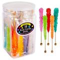 Rainbow Rock Candy Sticks 18pc