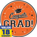Orange Congrats Grad Graduation Party Supplies
