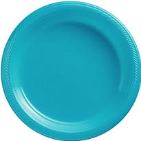 Caribbean Blue Plastic Dinner Plates 20ct