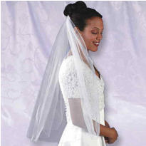 Rolled Edge Bridal Veil