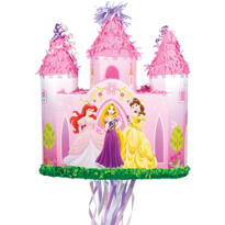Pull String Disney Princess Castle Pinata 17in
