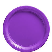 Purple Paper Lunch Plates 20ct
