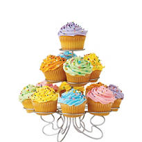 Silver Wire Cupcake Stand Holds 13
