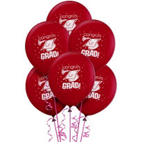 Berry Latex Graduation Balloons 12in 15ct