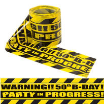 Party Scene Warning Tape 50th Birthday