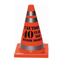 Orange 40th Birthday Safety Cone
