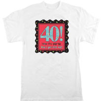 Adult Celebrate 40th Birthday T-Shirt