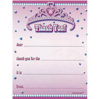 Princess for a Day Thank You Notes 8ct