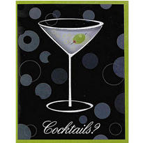 Cocktail Hour Party Invitations 8ct