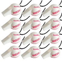 Baseball Whistles 12ct
