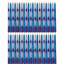 Blue and White Hanukkah Candles 45ct