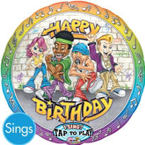 Rappers Birthday Singing Foil Balloon 28in