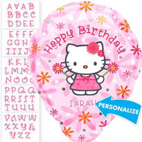 Foil Personalized Hello Kitty Balloon 18in
