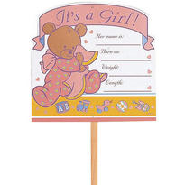 Sweet Dreams It's A Girl Yard Sign 14in x 15in