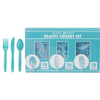 Caribbean Blue Cutlery Set 210pc