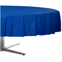 Royal Blue Plastic Round Table Cover