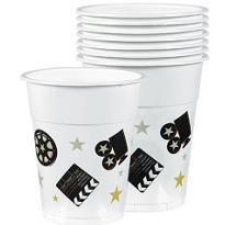 Director's Cut Movie Plastic Party Cups 14oz 8ct