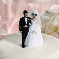 Classic Ethnic Couple Wedding Cake Topper
