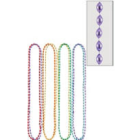 Multicolor Bead Necklaces 32in 8ct