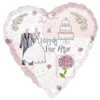 Foil Sweet Romance Wedding Balloon 18in