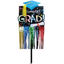 Embellished Graduation Yard Sign 24in x 13in