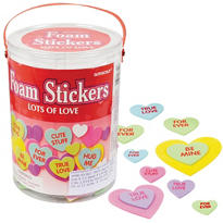 Candy Hearts Foam Sticker Kit 285pc