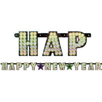Midnight Marquee New Years Letter Banner 9 1/2ft