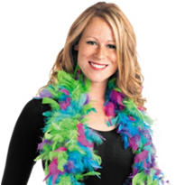Jewel Toned Feather Boa 72in