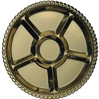 Gold Plastic Sectional Platter 16in