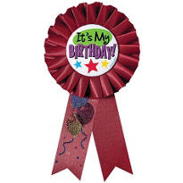 It's My Birthday Award Ribbon