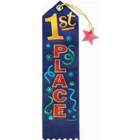 First Place Recognition Ribbon