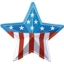 3D American Star Decoration 18in