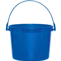 Blue Plastic Bucket 6 1/4in