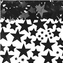 Metallic Black Star Confetti