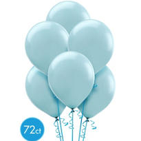 Powder Blue Latex Balloons 12in 72ct
