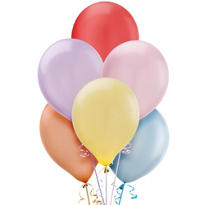 Assorted Pearlized Latex Balloons 12in 72ct
