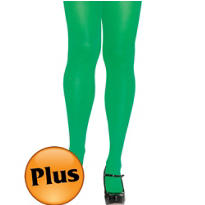 Adult Green Seamless Tights Plus Size